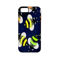 Bees Cartoon Bee Pattern Apple iPhone 5 Classic Hardshell Case (PC+Silicone)