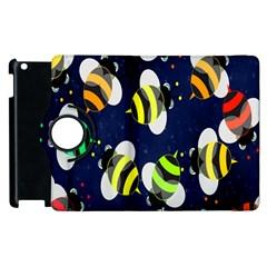 Bees Cartoon Bee Pattern Apple iPad 2 Flip 360 Case