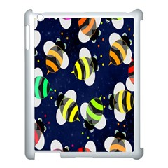 Bees Cartoon Bee Pattern Apple iPad 3/4 Case (White)