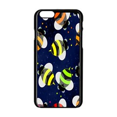 Bees Cartoon Bee Pattern Apple iPhone 6/6S Black Enamel Case