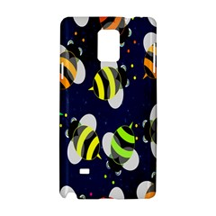 Bees Cartoon Bee Pattern Samsung Galaxy Note 4 Hardshell Case
