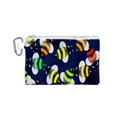 Bees Cartoon Bee Pattern Canvas Cosmetic Bag (s)