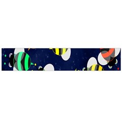 Bees Cartoon Bee Pattern Flano Scarf (Large)