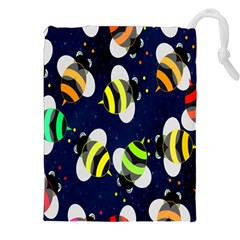 Bees Cartoon Bee Pattern Drawstring Pouches (XXL)