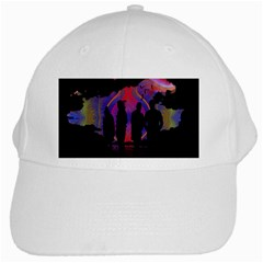 Abstract Surreal Sunset White Cap