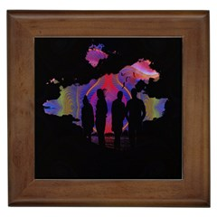 Abstract Surreal Sunset Framed Tiles