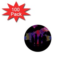 Abstract Surreal Sunset 1  Mini Buttons (100 pack)