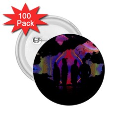 Abstract Surreal Sunset 2.25  Buttons (100 pack)