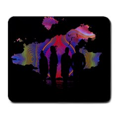 Abstract Surreal Sunset Large Mousepads