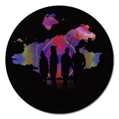 Abstract Surreal Sunset Magnet 5  (round)