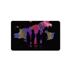 Abstract Surreal Sunset Magnet (Name Card)