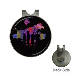 Abstract Surreal Sunset Hat Clips with Golf Markers
