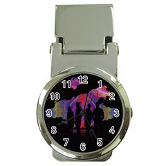 Abstract Surreal Sunset Money Clip Watches