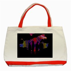 Abstract Surreal Sunset Classic Tote Bag (red)