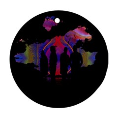 Abstract Surreal Sunset Round Ornament (Two Sides)