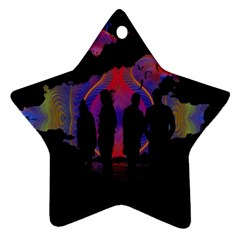 Abstract Surreal Sunset Star Ornament (Two Sides)