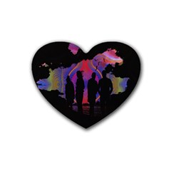 Abstract Surreal Sunset Heart Coaster (4 pack)