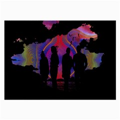 Abstract Surreal Sunset Large Glasses Cloth (2-Side)