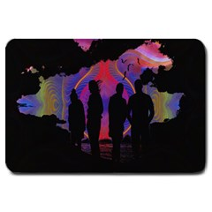 Abstract Surreal Sunset Large Doormat
