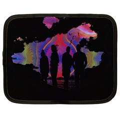 Abstract Surreal Sunset Netbook Case (Large)