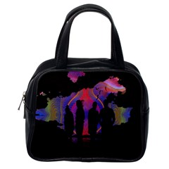 Abstract Surreal Sunset Classic Handbags (one Side)