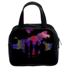 Abstract Surreal Sunset Classic Handbags (2 Sides)