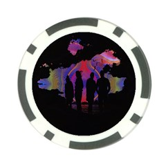 Abstract Surreal Sunset Poker Chip Card Guard (10 pack)