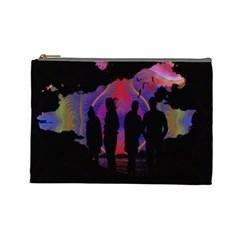 Abstract Surreal Sunset Cosmetic Bag (large)