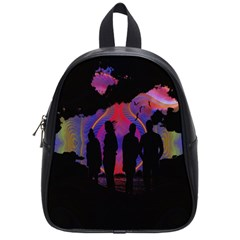 Abstract Surreal Sunset School Bags (small)