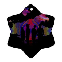 Abstract Surreal Sunset Ornament (Snowflake)