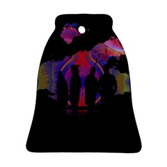 Abstract Surreal Sunset Bell Ornament (Two Sides)