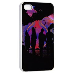 Abstract Surreal Sunset Apple Iphone 4/4s Seamless Case (white)