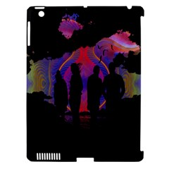 Abstract Surreal Sunset Apple iPad 3/4 Hardshell Case (Compatible with Smart Cover)