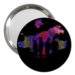 Abstract Surreal Sunset 3  Handbag Mirrors