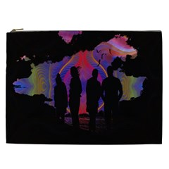 Abstract Surreal Sunset Cosmetic Bag (xxl)
