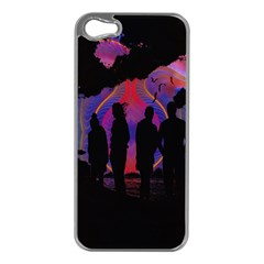 Abstract Surreal Sunset Apple iPhone 5 Case (Silver)
