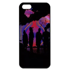 Abstract Surreal Sunset Apple Iphone 5 Seamless Case (black)
