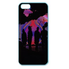 Abstract Surreal Sunset Apple Seamless iPhone 5 Case (Color)