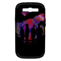 Abstract Surreal Sunset Samsung Galaxy S III Hardshell Case (PC+Silicone)