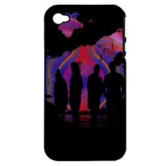Abstract Surreal Sunset Apple Iphone 4/4s Hardshell Case (pc+silicone)