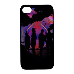 Abstract Surreal Sunset Apple Iphone 4/4s Hardshell Case With Stand