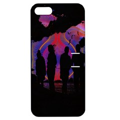 Abstract Surreal Sunset Apple Iphone 5 Hardshell Case With Stand