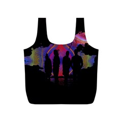 Abstract Surreal Sunset Full Print Recycle Bags (s)