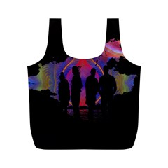 Abstract Surreal Sunset Full Print Recycle Bags (m)