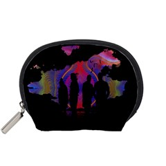 Abstract Surreal Sunset Accessory Pouches (small)