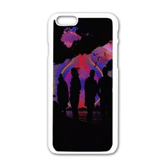 Abstract Surreal Sunset Apple Iphone 6/6s White Enamel Case