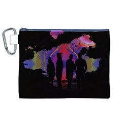 Abstract Surreal Sunset Canvas Cosmetic Bag (xl)