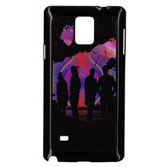 Abstract Surreal Sunset Samsung Galaxy Note 4 Case (black)