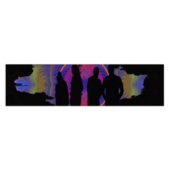 Abstract Surreal Sunset Satin Scarf (Oblong)