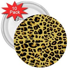 A Jaguar Fur Pattern 3  Buttons (10 pack)